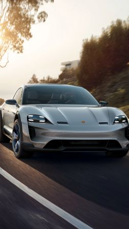 Porsche Mission E Cross Turismo, electric cars, Concept, 4k (vertical)