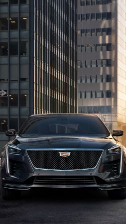 Cadillac CT6 V Sport, 2019 Cars, silver, 4K (vertical)