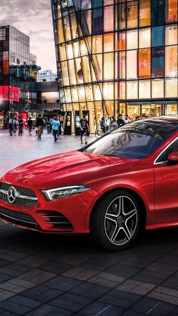 Mercedes-Benz A-Class L Sedan, 2019 Cars, 4K (vertical)