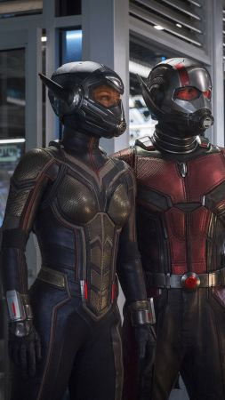 Ant-Man and the Wasp, Evangeline Lilly, Hannah John-Kamen, 4K (vertical)
