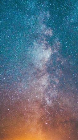 milky way, stars, 4K (vertical)