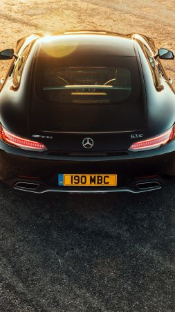 Mercedes AMG GT C, 2018 Cars, 4K (vertical)