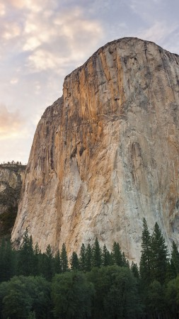 El Capitan, 5k, 4k wallpaper, 8k, forest, OSX, apple, mountains, sunset (vertical)