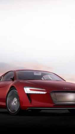 Audi E-Tron Concept, electric car, 4K (vertical)