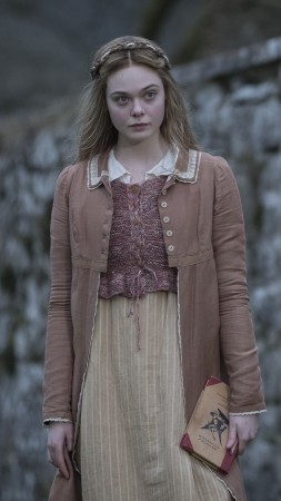 Mary Shelley, Elle Fanning, 4K (vertical)