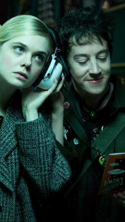 How to Talk to Girls at Parties, Elle Fanning, Alex Sharp, 4K, 6K (vertical)