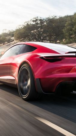Tesla Roadster, 2020 Cars, electric car, 4K (vertical)