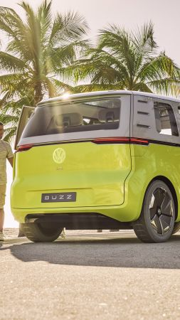 Volkswagen ID Buzz, 2021 Cars, electric car, 4K (vertical)