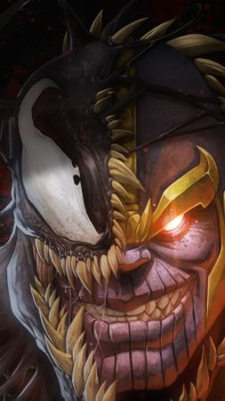 Marvel Comics, Thanos, Venom, 4K (vertical)