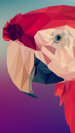 Digital Art, Parrot, Polygon, 4K, 6K (vertical)