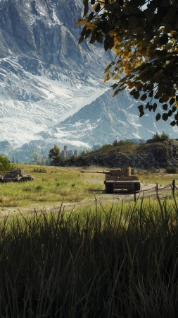 Nature graphics, World of Tanks 1.0.2, 4K (vertical)