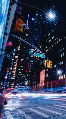 New York City, Street, Long Exposure, 5K (vertical)
