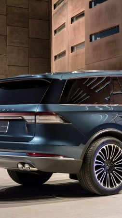 Lincoln Aviator, SUV, 2019 Cars, electric car, 4K (vertical)