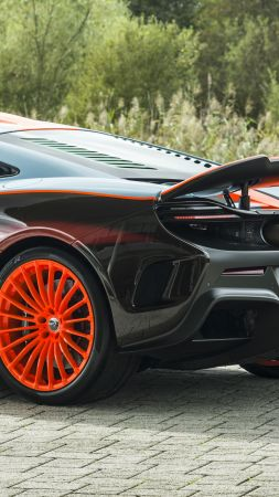 McLaren 675LT F1 GTR livery, luxury cars, 5K (vertical)