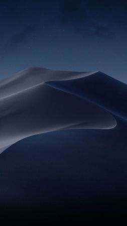 macOS Mojave, Night, Dunes, WWDC 2018, 4K (vertical)