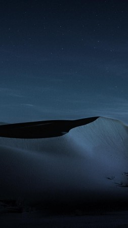 macOS Mojave, Night, Dunes, 4K (vertical)