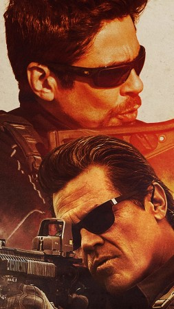 Sicario: Day Of The Soldado, Josh Brolin, Benicio Del Toro, poster, 4K (vertical)