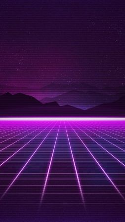 Retrowave, Purple, lines, 4K (vertical)
