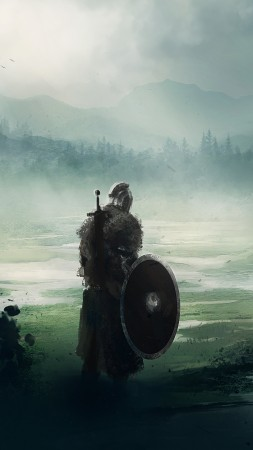 Dark Souls, fan art, warrior, 5K (vertical)