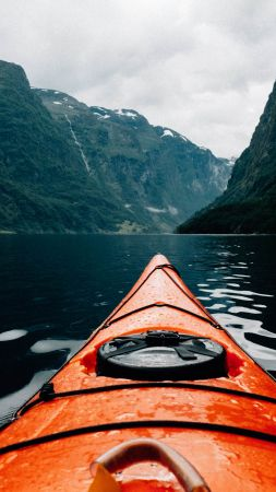 Canoe, Scandinavia, Europe, 5K (vertical)