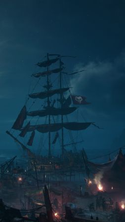 Skull & Bones, E3 2018, screenshot, 4K (vertical)