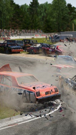 Wreckfest, Next Car Game, E3 2018, screenshot, 4K (vertical)