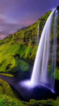 Iceland, falls, Waterfall (vertical)