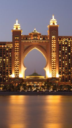 The Palm, Atlantis, Dubai, Hotel, 6K (vertical)