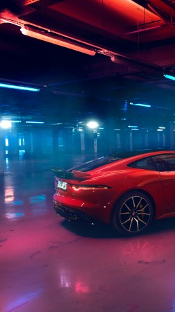 Jaguar F-Type, 2019 Cars, luxury cars, 4K (vertical)