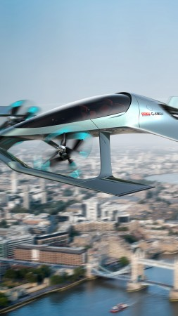 Aston Martin VVC, Flying Taxi, 8K (vertical)