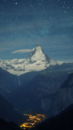Zermatt-Matterhorn, Switzerland, Europe, 4K (vertical)