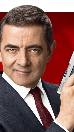 Johnny English Strikes Again, Rowan Atkinson, poster, 4K (vertical)