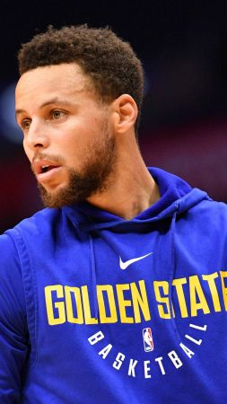 Stephen Curry, Golden State Warriors, NBA, basketball, 4K (vertical)