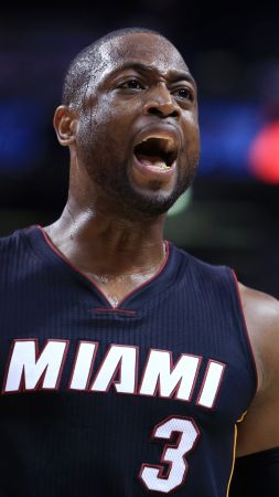 Dwyane Wade, Miami Heat, NBA, basketball, 4K (vertical)