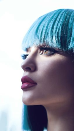Kylie Jenner, beauty, 4K (vertical)