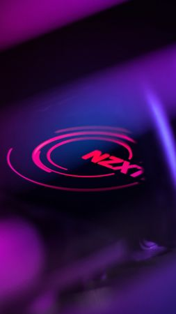 NZXT, purple, light, 4K (vertical)
