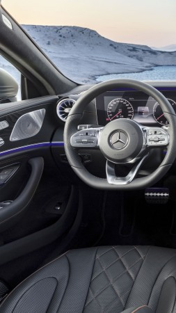 Mercedes-Benz CLS, 2019 Cars, 4K (vertical)