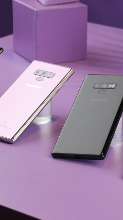 Samsung Galaxy Note 9, Android 8.0, Android Oreo, smartphone (vertical)