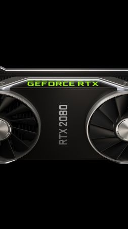 Nvidia GeForce RTX 2080, graphics card, 4K (vertical)