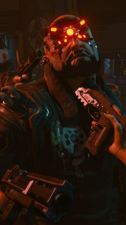Cyberpunk 2077, Gamescom 2018, screenshot, 4K (vertical)