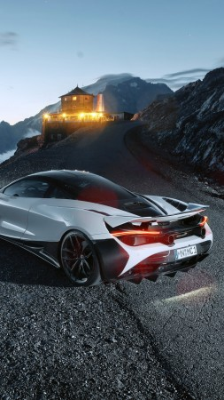 McLaren 720S, supercar, 2019 Cars, 4K (vertical)