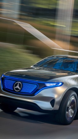 Mercedes-Benz EQC, SUV, 2019 Cars, electric cars, 4K (vertical)