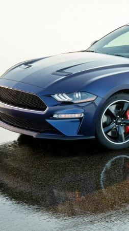 Ford Mustang Bullitt Kona Blue, 2019 Cars, 5K (vertical)
