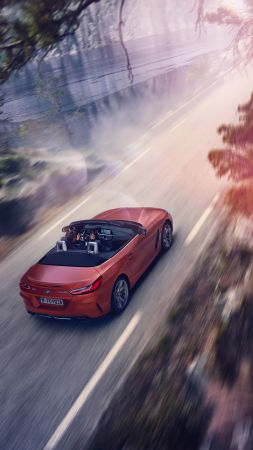 BMW Z4 M40i First Edition, 2019 Cars, sports car, 4K (vertical)