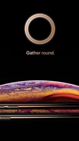 iPhone XS, gold, smartphone, HD, Apple September 2018 Event (vertical)