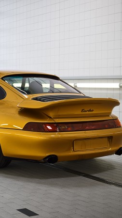 Porsche 993 Turbo S Project Gold, 2018 Cars, limited edition, 4K (vertical)