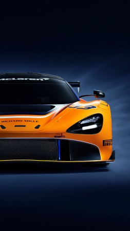 McLaren 720S GT3, supercar, 2019 Cars, 4K (vertical)