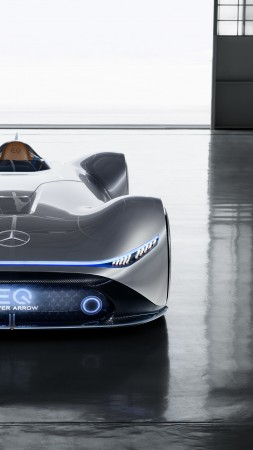 Mercedes-Benz Vision EQ Silver Arrow, electric cars, 2018 Cars, supercar, 4K (vertical)