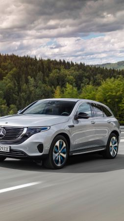 Mercedes-Benz EQC, SUV, 2020 Cars, electric cars, 8K (vertical)