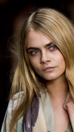 Cara Delevingne, Top Fashion Models, 4K (vertical)